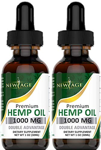 , 2 Pack Hemp Oil Extract for Pain Stress Relief