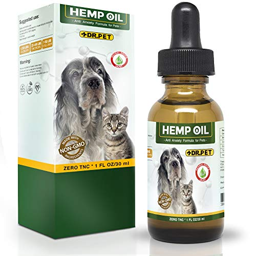 , Dr. Pet Hemp Oil for Dogs and Cats 250mg