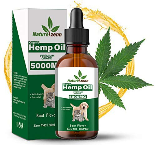 , Hemp Oil Dogs Cats 5000mg Separation Anxiety Joint