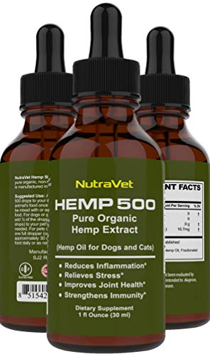 , Hemp Oil for Dogs Cat and Dog Anxiety Relief