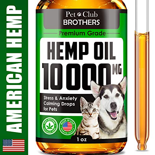, Hemp Oil for Dogs Cats 10000 mg