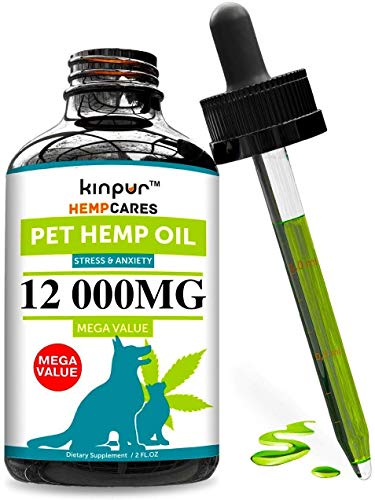, Hemp Oil for Dogs Cats 12 000mg