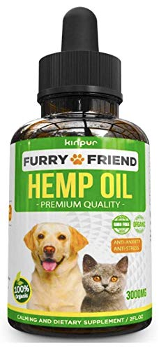 , Hemp Oil for Dogs Cats 3000 mg