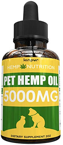 , Hemp Oil for Dogs Cats 5000mg Calming