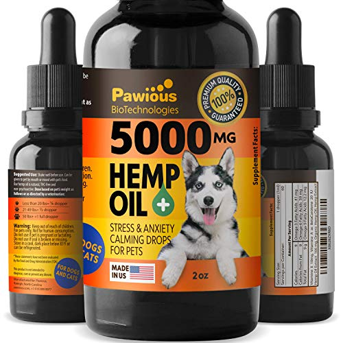 , Hemp Oil for Dogs Cats 5000mg Joint Pain